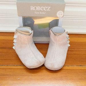 Robeez First Kicks Pink Madison Boot 12-18 months